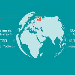 Der Standort des Unternehmens ADDINOL auf einer Weltkugel eingezeichnet.