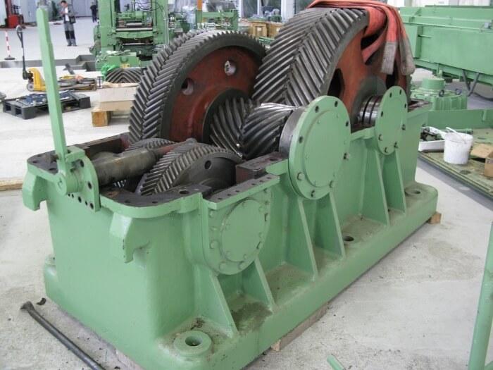 Offenes Industriegetriebe älterer Bauart