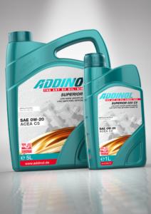 ADDINOL : Nouvelle technologie, nouvelles huiles moteur - spécification ACEA C5. dans Lubrifiants - Huiles. Nouveaux produits. Superior-020-C5-212x300