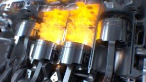 Verbrennungsvorgang in einem Motor